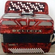 Instrumentos musicales: ACORDEON DE BOTÓN MARCA DELICIA SONOREX III. Lote 275756173