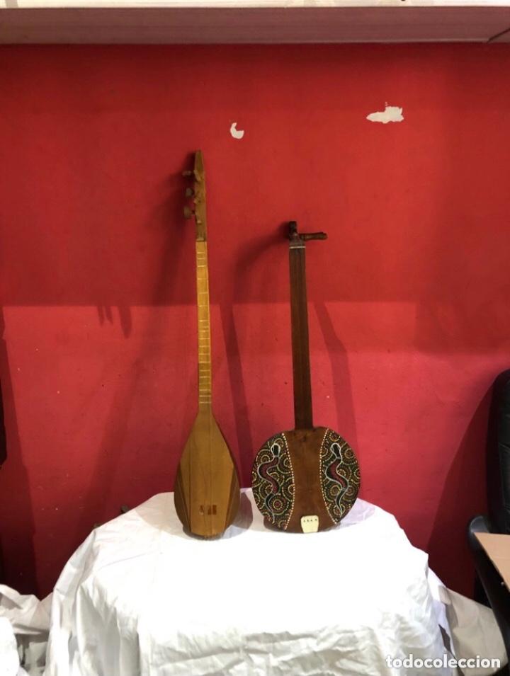 DOS INSTRUMENTOS MUSICALES MADERA ANTIGUOS (Música - Instrumentos Musicales - Guitarras Antiguas)