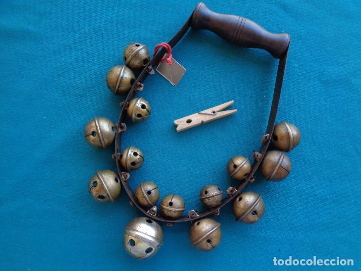 Instrumentos musicales: ETNOGRAFÍA FOLKLORE, INSTRUMENTO CON CASCABELES - Foto 3 - 276231723