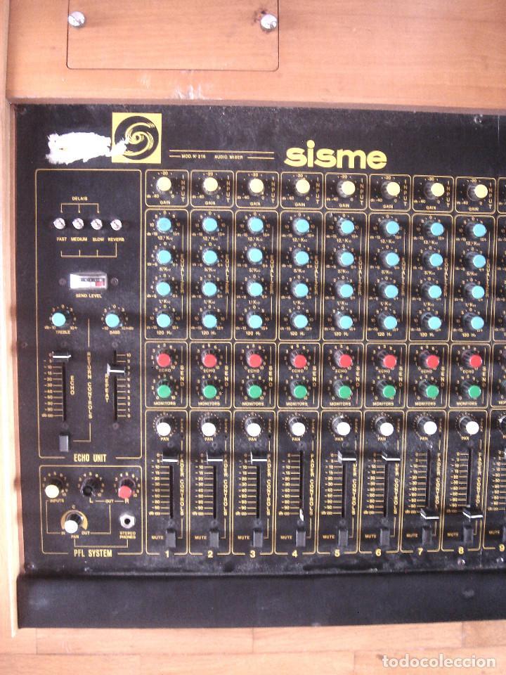 Instrumentos musicales: GRAN MESA DE ESTUDIO VINTAGE PROFESIONAL - SISME N.216 -16 CANALES -ANALOGICA MEZCLAS AUDIO MIXER - Foto 4 - 276457023