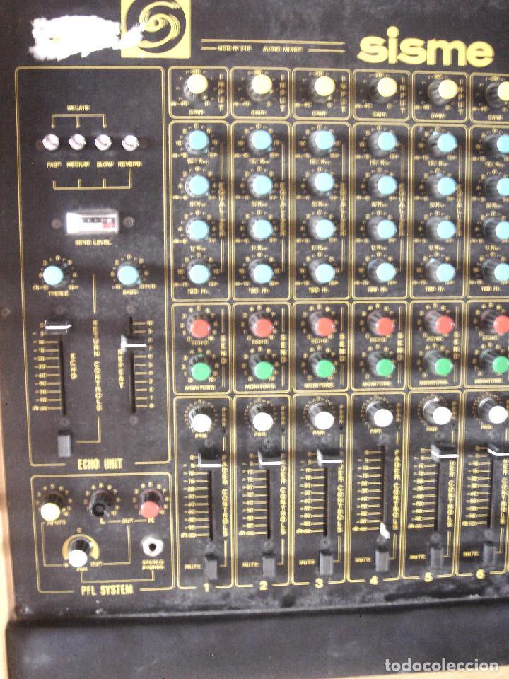 Instrumentos musicales: GRAN MESA DE ESTUDIO VINTAGE PROFESIONAL - SISME N.216 -16 CANALES -ANALOGICA MEZCLAS AUDIO MIXER - Foto 7 - 276457023