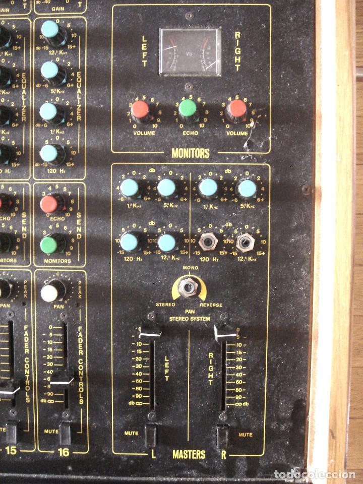 Instrumentos musicales: GRAN MESA DE ESTUDIO VINTAGE PROFESIONAL - SISME N.216 -16 CANALES -ANALOGICA MEZCLAS AUDIO MIXER - Foto 10 - 276457023