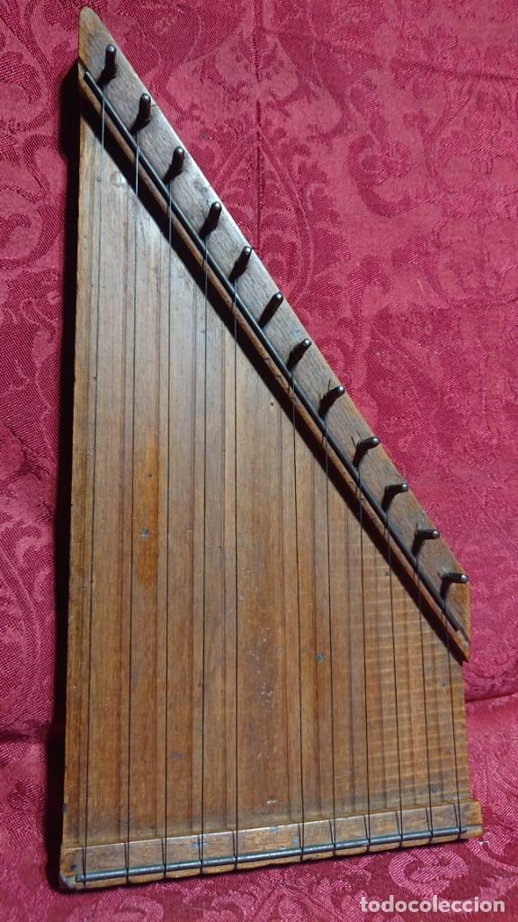 Instrumentos musicales: INSTRUMENTO MUSICAL DE CUERDA - ANTIGUA CITARA DE MADERA - - Foto 6 - 277024603