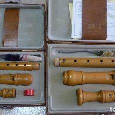 Instrumentos musicales: PAR DE FLAUTAS BARROCAS DE BOJ,MOECK ROTTENBURGH,ALTO Y SOPRANO. Lote 277069918