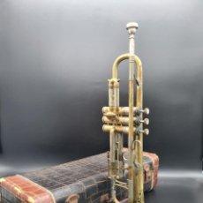 Instrumentos musicales: MAGNÍFICA Y ANTIGUA TROMPETA B&S 11658 EMPIRE SERIES TORONTO, ALEMANIA, AÑOS 30. MALETA ORIGINAL.. Lote 277611873