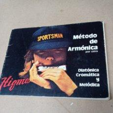 Instrumentos musicales: HIGMA.METODO DE ARMONICA POR CIFRA. Lote 277619688