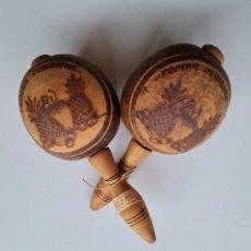 Instrumentos musicales: MARACAS DE CUBA. Lote 280206183