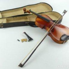 Instrumentos musicales: ANTIGUO INSTRUMENTO MUSICAL VIOLÍN CON ARCO Y ESTUCHE ORIGINAL. Lote 284734568