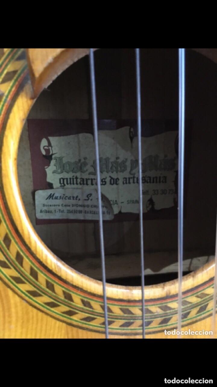 Instrumentos musicales: Antigua guitarra JOSE MAS Y MAS para restaurar.ver fotos - Foto 2 - 286012068