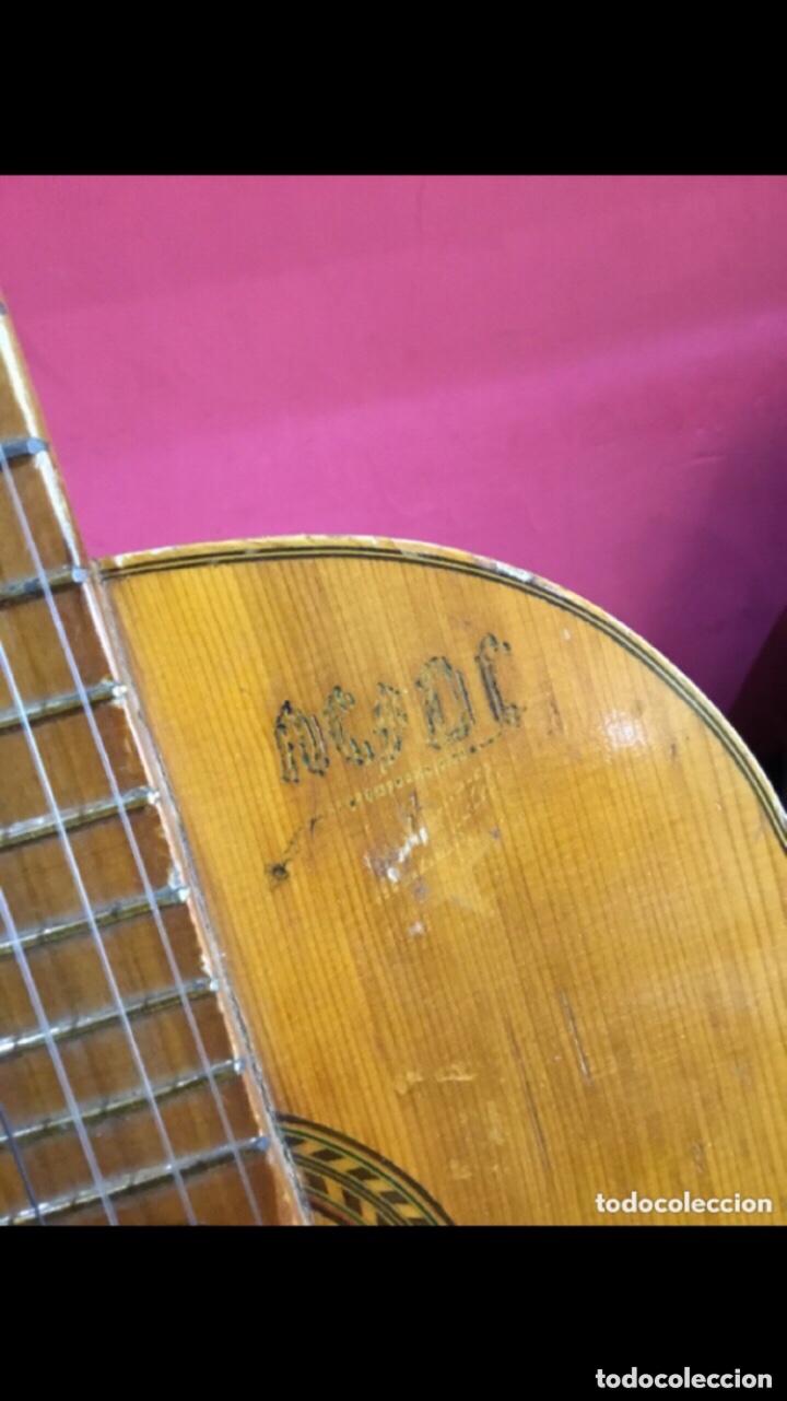 Instrumentos musicales: Antigua guitarra JOSE MAS Y MAS para restaurar.ver fotos - Foto 9 - 286012068