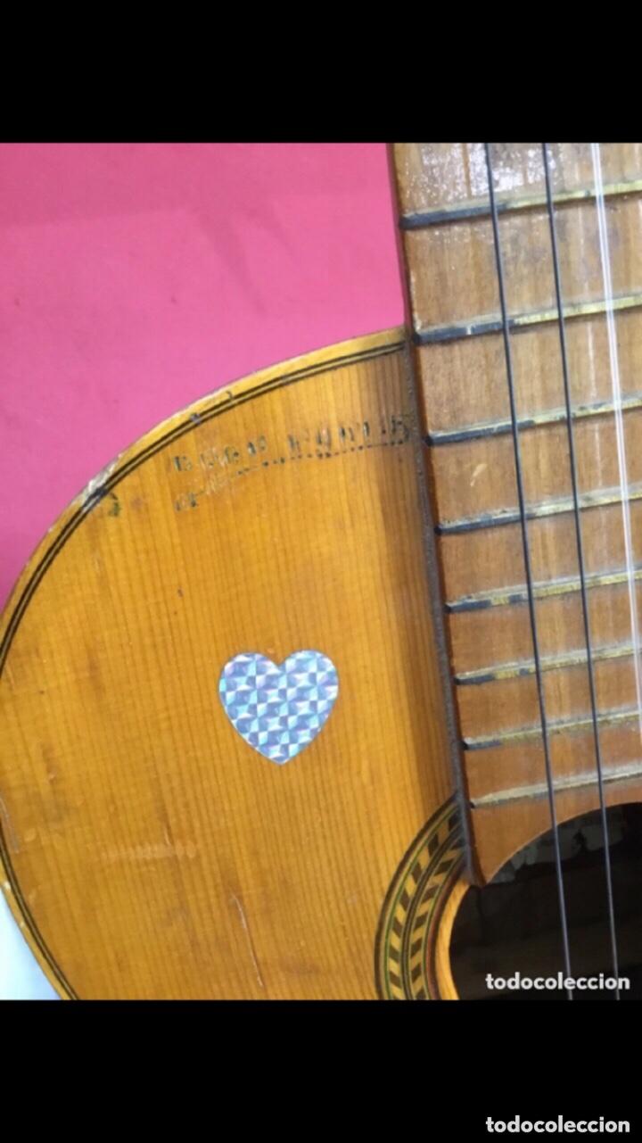 Instrumentos musicales: Antigua guitarra JOSE MAS Y MAS para restaurar.ver fotos - Foto 10 - 286012068