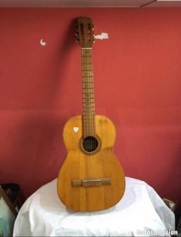 ANTIGUA GUITARRA JOSE MAS Y MAS PARA RESTAURAR.VER FOTOS (Música - Instrumentos Musicales - Guitarras Antiguas)