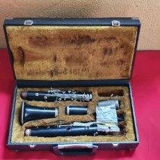 Instruments Musicaux: ANTIGUO CLARINETTE DE EBANO JEAN MARTIN PARIS CON LA MALETA. TAL CUAL COMO SE VE EN FOTOS. Lote 286865113