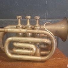 Instrumentos Musicais: ANTIGUA TROMPETA DE LATON. Lote 287208753