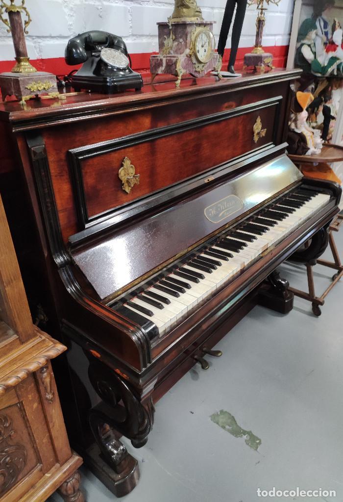 PIANO PARED H KLEIN (Música - Instrumentos Musicales - Pianos Antiguos)