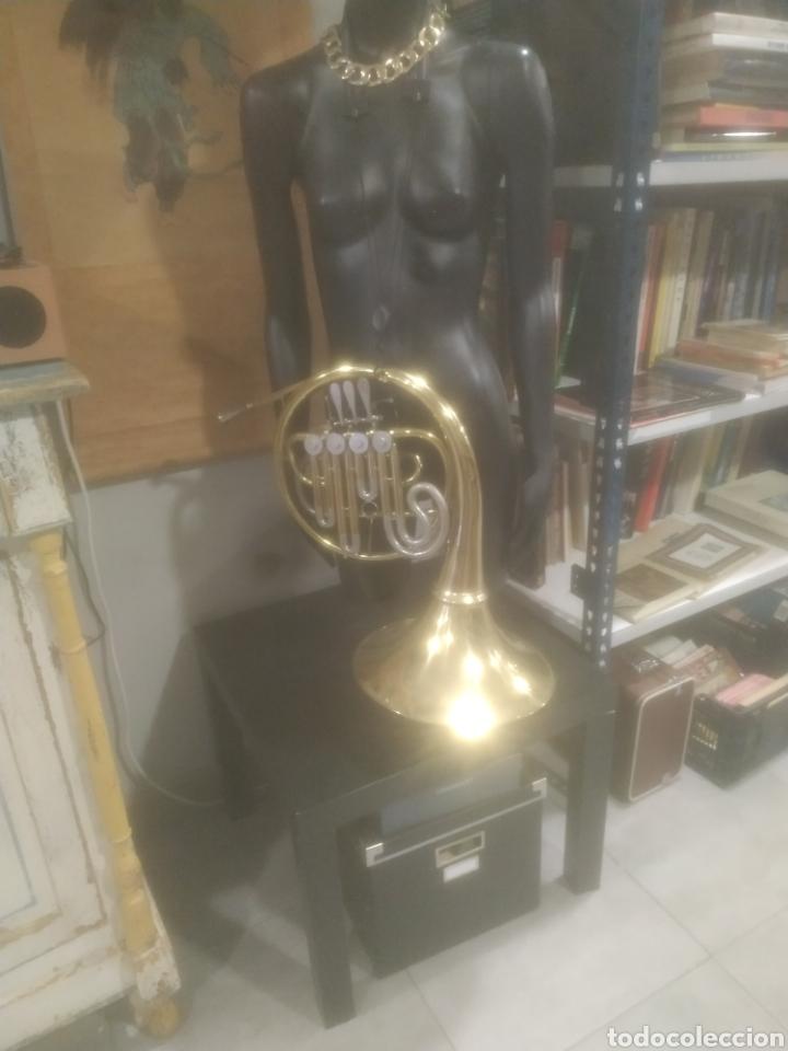 Instrumentos musicales: Trombón completo en buen estado, años 40 - Foto 2 - 287930758