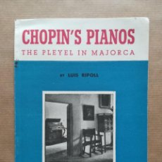 Instrumentos musicales: CHOPIN'S PIANOS, THE PLEYEL IN MAJORCA - 1958 - LUIS RIPOLL - GAL.COSTA~IMP.M.ALCOVER - PJRB. Lote 288381713