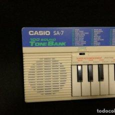 Instrumentos musicales: ORGANO / TECLADO / PIANO - CASIO SA-7 (FUNCIONA). Lote 288928263