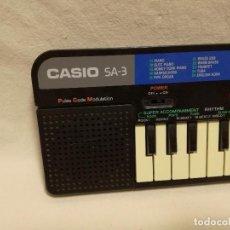 Instrumentos musicales: ORGANO / TECLADO / PIANO - CASIO SA-3 (FUNCIONA). Lote 288928753
