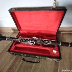 Instrumentos musicales: ANTIGUO CLARINETE NOBLET PARIS, EN CAJA. VER ESTADO EN FOTOS.. Lote 289561313