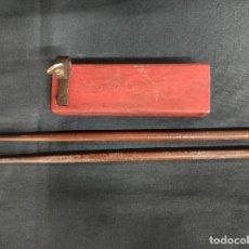 Instrumentos musicales: ANTIGUA CAJA CHINA CON BAQUETAS -. Lote 291195388