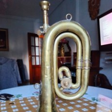Instrumentos musicales: CORNETA VINTAGE MARCA HONSUY .CON BOQUILLA Y LLAVE CON CAMBIO TIENE UNAS PEQUEÑAS ABOLLADURAS. Lote 292584968