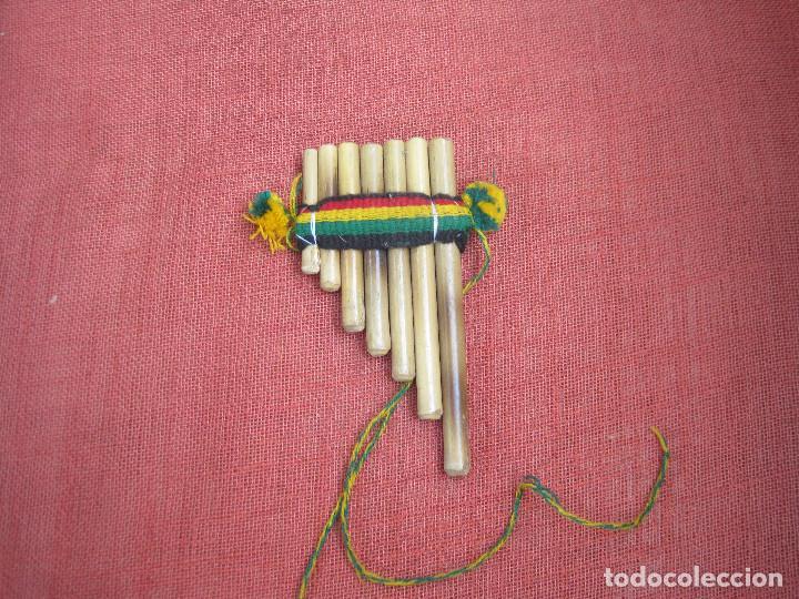 Instrumentos musicales: Pequeña flauta de pan peruana (se puede tocar) - Foto 2 - 287410333