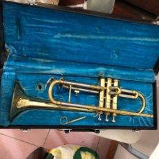 Instrumentos musicales: ANTIGUA TROMPETA EN MALETA ORIGINAL. Lote 294858273