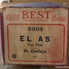 Instrumentos musicales: ROLLO PIANOLA / ORGANILLO EL AS (R, CALLEJA). FOX TROT. CON SU ESTUCHE ORIGINAL. Lote 295712803