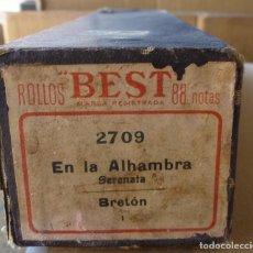 Instrumentos musicales: ROLLO PIANOLA / ORGANILLO EN LA ALHAMBRA (SERENATA). BRETON. CON SU ESTUCHE ORIGINAL. Lote 295714123