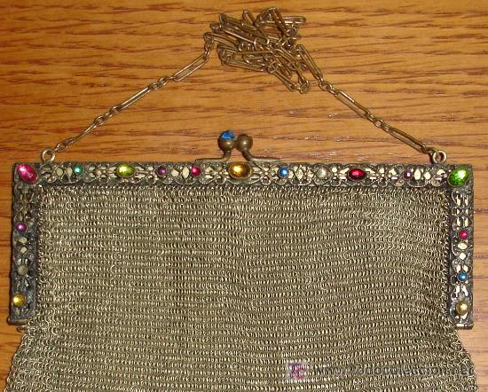 Joyeria: Precioso bolso de malla dorada s. XIX - Foto 2 - 17468569