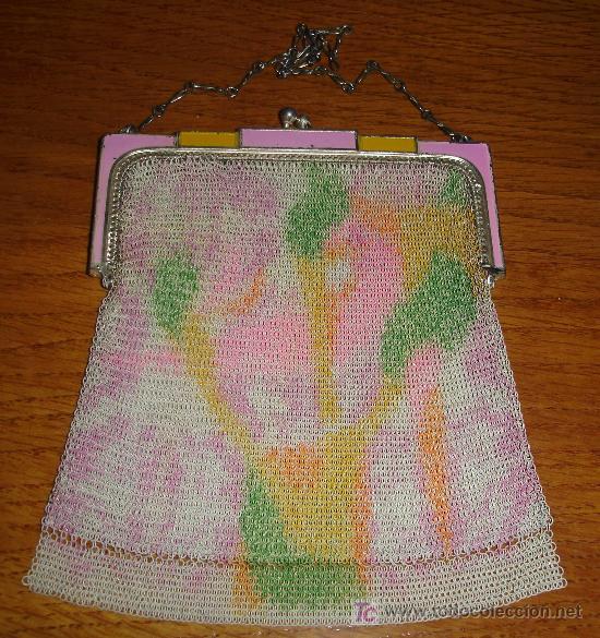 Joyeria: original y antiguo bolso de malla con bonitos esmaltes - Foto 4 - 17404612