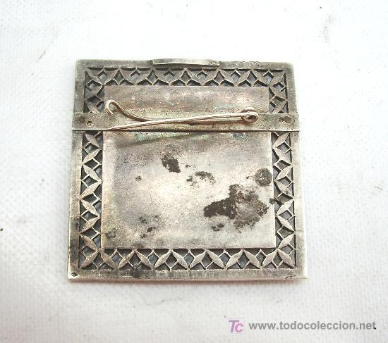 Joyeria: Broche antiguo en plata con forma cuadrada. - Foto 2 - 24824676