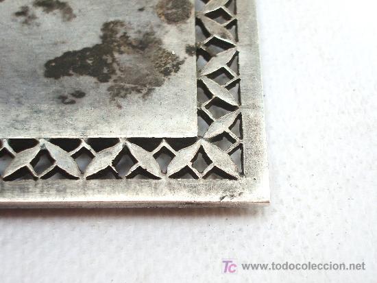 Joyeria: Broche antiguo en plata con forma cuadrada. - Foto 3 - 24824676