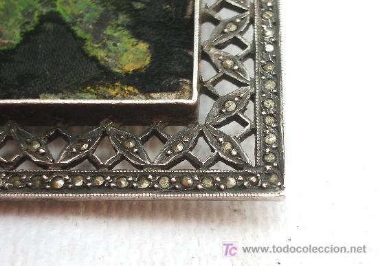 Joyeria: Broche antiguo en plata con forma cuadrada. - Foto 4 - 24824676