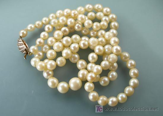 618b2fb35052 Joyeria  Collar ópera de perlas japonesas en degradado - Foto 3 - 21111018