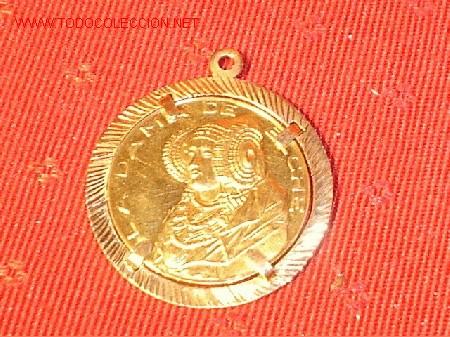 657073ec929c Antigua moneda conmemorativa en Oro Alegoría a la Dama de Elche - engarzada  con colgante. Años 60.