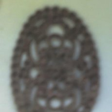 Joyeria: BROCHE ANTIGUO DE JOYERIA DE COBRE ? FALTAN LAS PIEDRAS. Lote 13367645