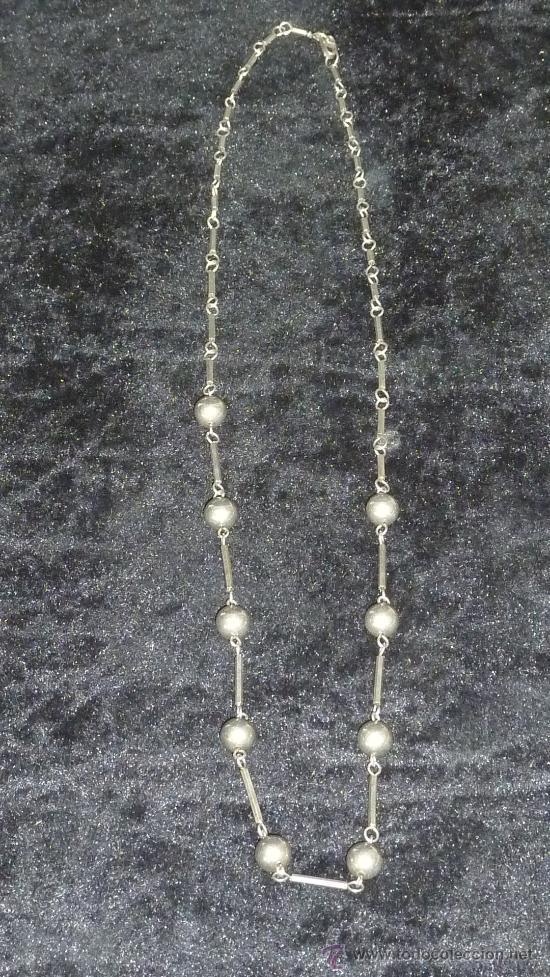 ANTIGUO COLLAR INTGRAMENTE FABRICADO DE PLATA (Joyería - Collares Antiguos)