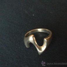 Jewelry - Original anillo vintage de diseño moderno en plata de ley contrastada . - 30061151