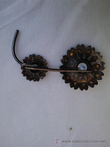 Joyeria: broche de plata y cristales antiguos - Foto 2 - 30692628