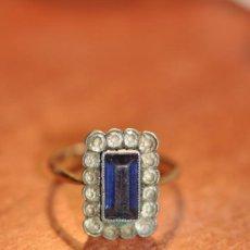Joyeria - antiguo anillo de plata con amatista Y metal dorado - 30969068