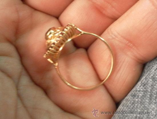 Joyeria: Antiguo anillo. Oro de 18 k. Con estuche original. - Foto 3 - 32676536