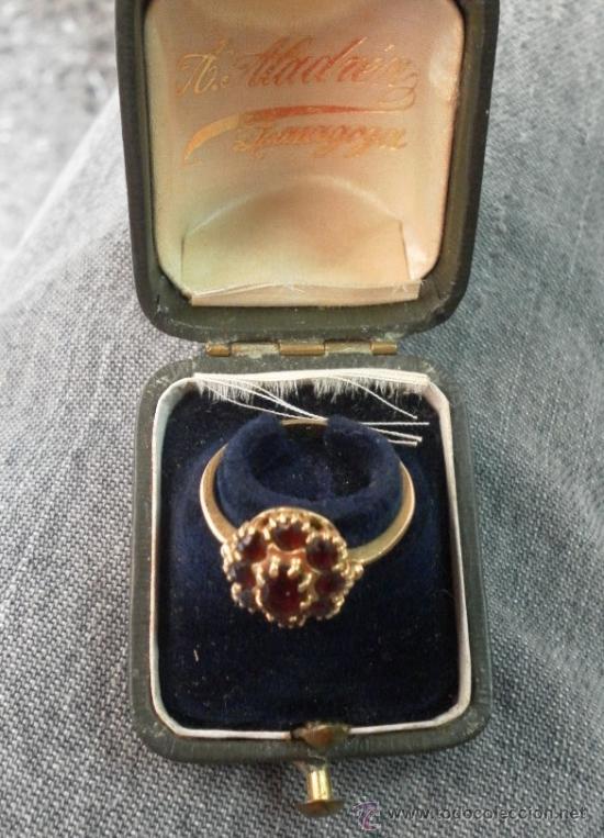 Joyeria: Antiguo anillo. Oro de 18 k. Con estuche original. - Foto 2 - 32676577