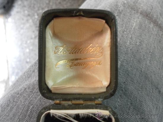 Joyeria: Antiguo anillo. Oro de 18 k. Con estuche original. - Foto 3 - 32676577