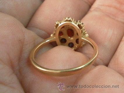 Joyeria: Antiguo anillo. Oro de 18 k. Con estuche original. - Foto 7 - 32676577