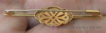 Joyeria: Broche antiguo de señora. Oro 18 K, pedrería fina. - Foto 3 - 37066164