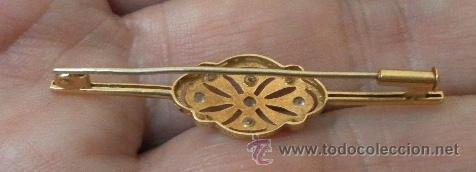 Joyeria: Broche antiguo de señora. Oro 18 K, pedrería fina. - Foto 4 - 37066164