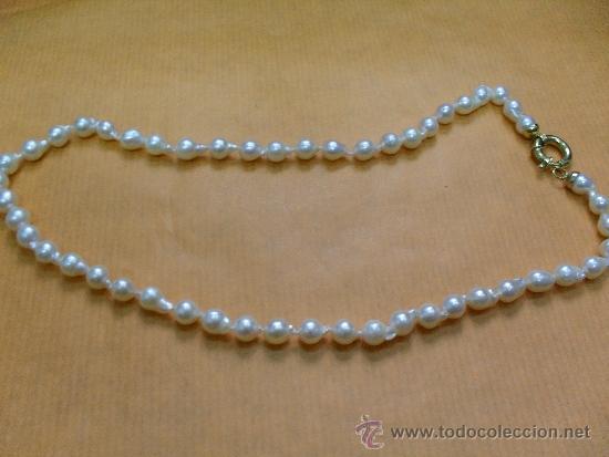 d64665957646 collar perlas con cierre oro ley - Comprar Collares Antiguos en ...