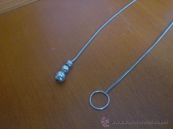 Joyeria: Original gargantilla vintage de plata de ley contrastada con tres cuentas en forma de perla . - Foto 4 - 37659265